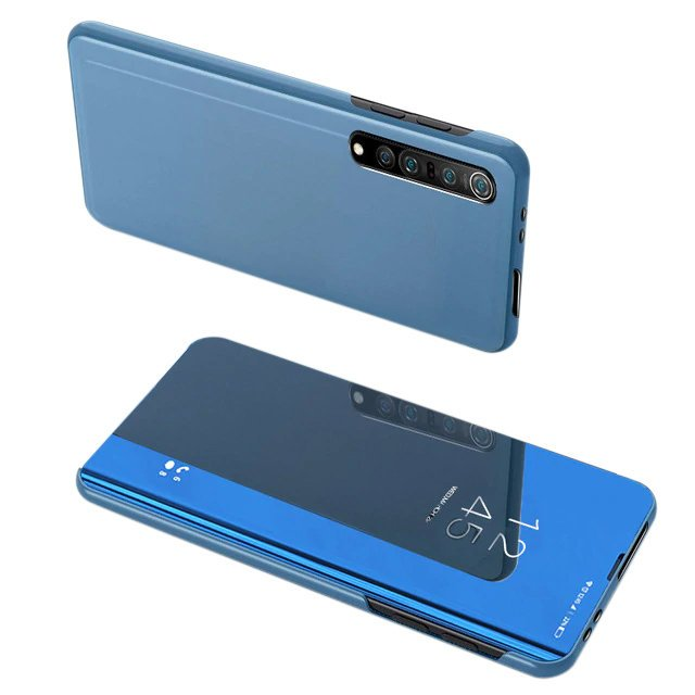 Knížkové pouzdro naXiaomi Mi NOTE 10 Lite s průhlednou přední stranou blue