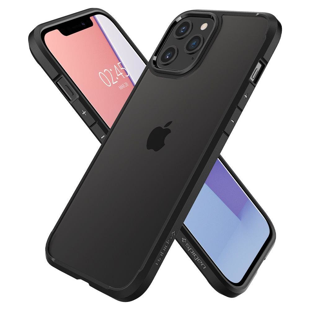 Spigen Ultra Hybrid pouzdro na iPhone 12 / 12 Pro Matte Black