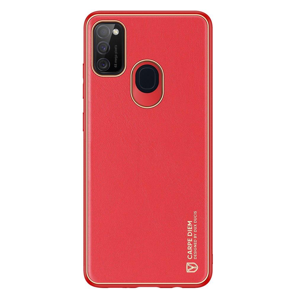 Dux Ducis Yolo púzdro z Eko kože pre Samsung Galaxy M21 / Galaxy M30s red