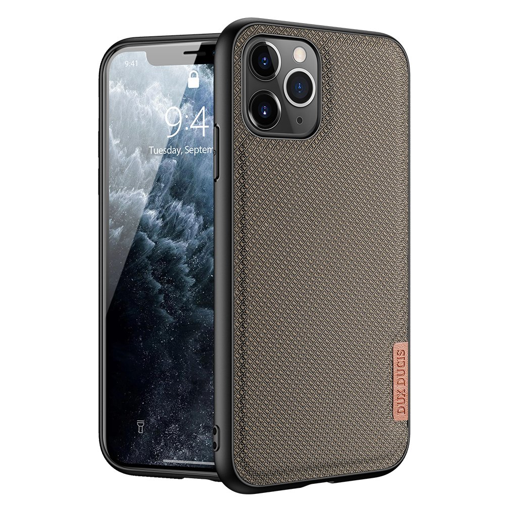 Luxusní pouzdro Dux Ducis Fino Nylon ,  iPhone 11 Pro Max , zelená 6934913053522
