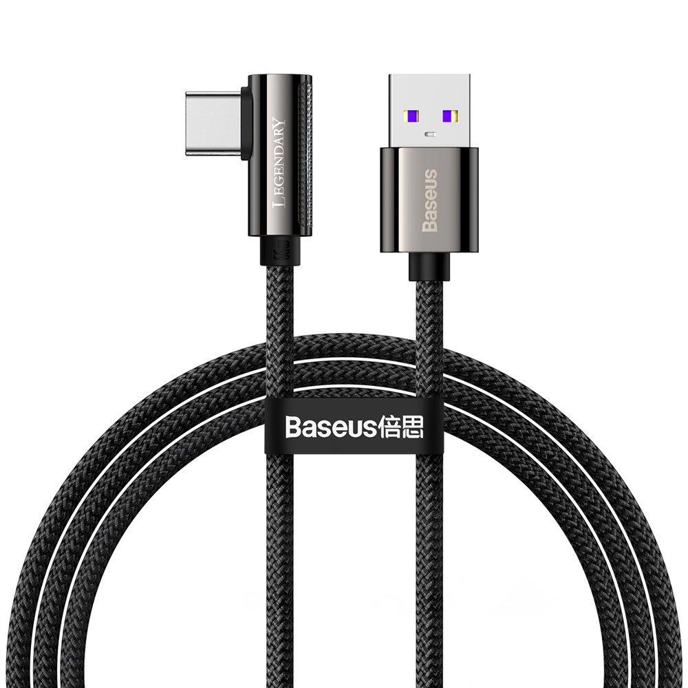 Baseus Legend extra odolný nylonem opletený kabel USB / USB-C 66W 1m black