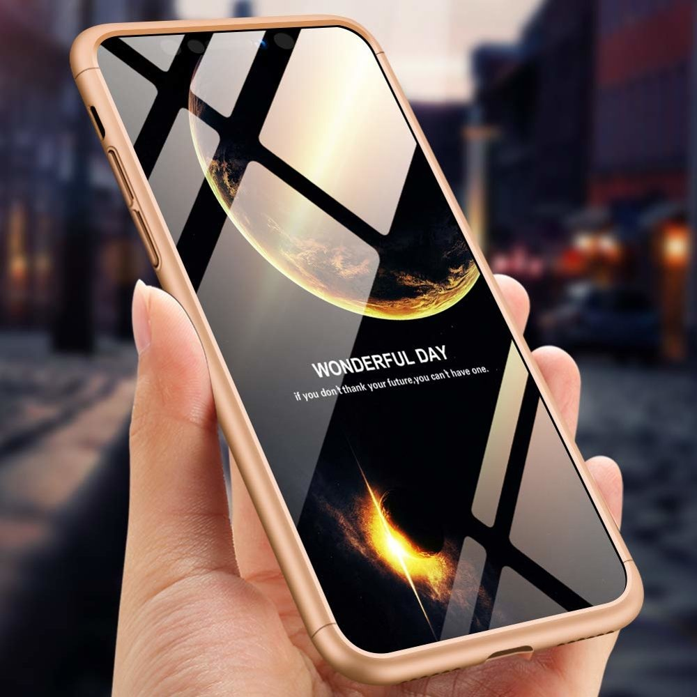 GKK 360 Protection pouzdro pro iPhone XS Max golden