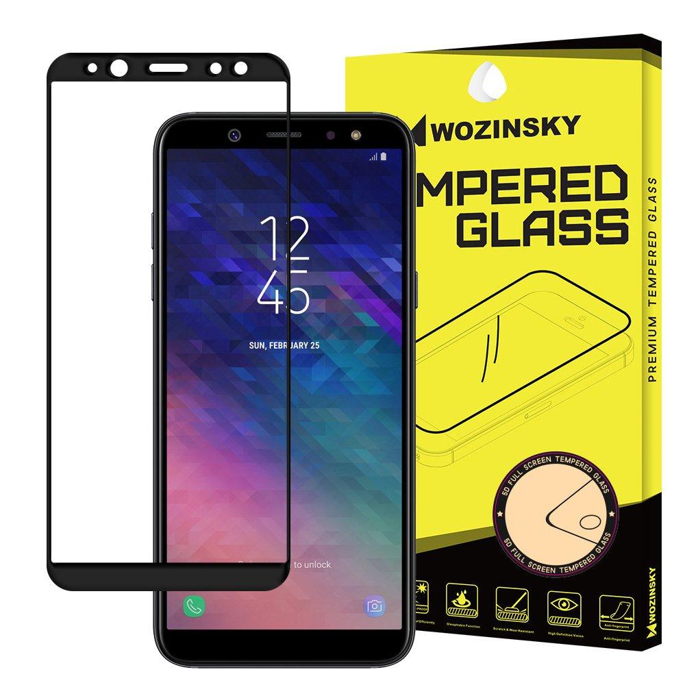 Celoplošné temperované tvrzené sklo 9H pro Samsung Galaxy A6 2018 A600 black