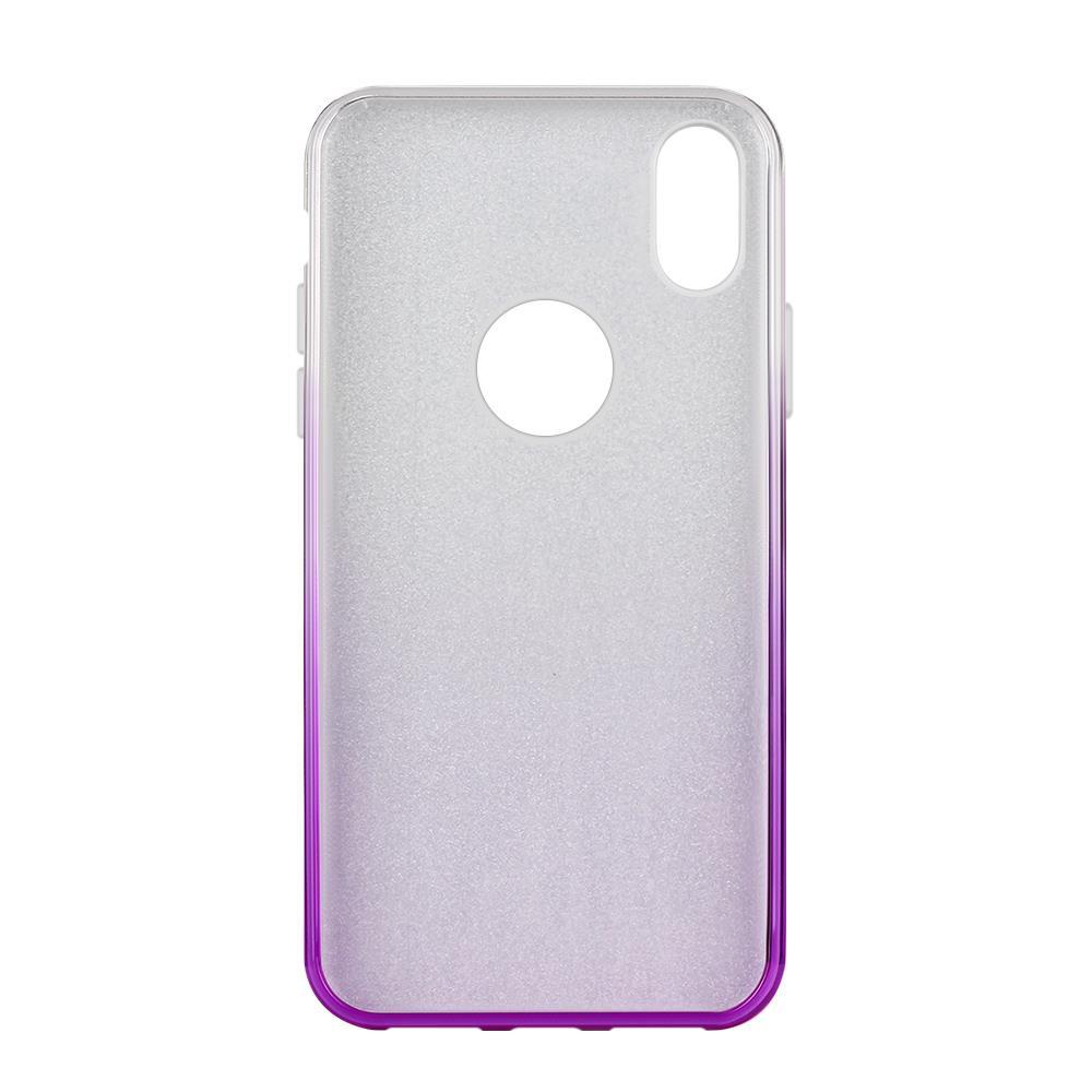 Wozinsky Glitter Shining silikonové pouzdro iPhone XR purple