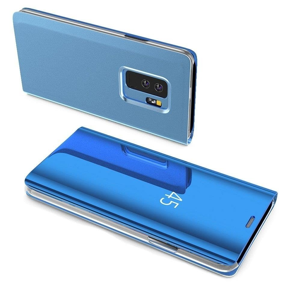 Knižkove púzdro pre Samsung Galaxy A40 blue s priehľadnou prednou stranou