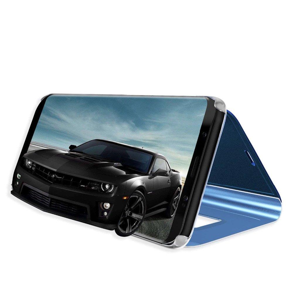 Knižkove púzdro pre Samsung Galaxy S20 black s priehľadnou prednou stranou