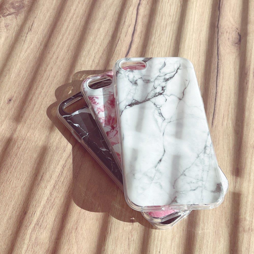 Wozinsky Marble silikonové pouzdro pro iPhone 8 Plus / iPhone 7 Plus black