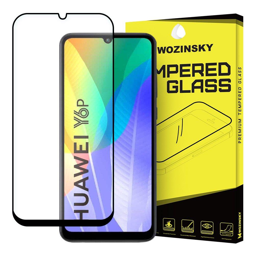 Celoplošně lepené temperované tvrzené sklo 9H na Huawei Y6p black