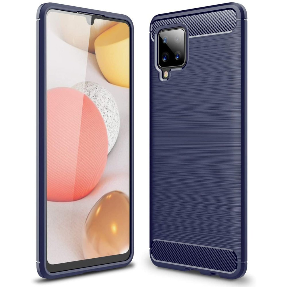 Carbon silikonové pouzdro naSamsung Galaxy A42 5G blue