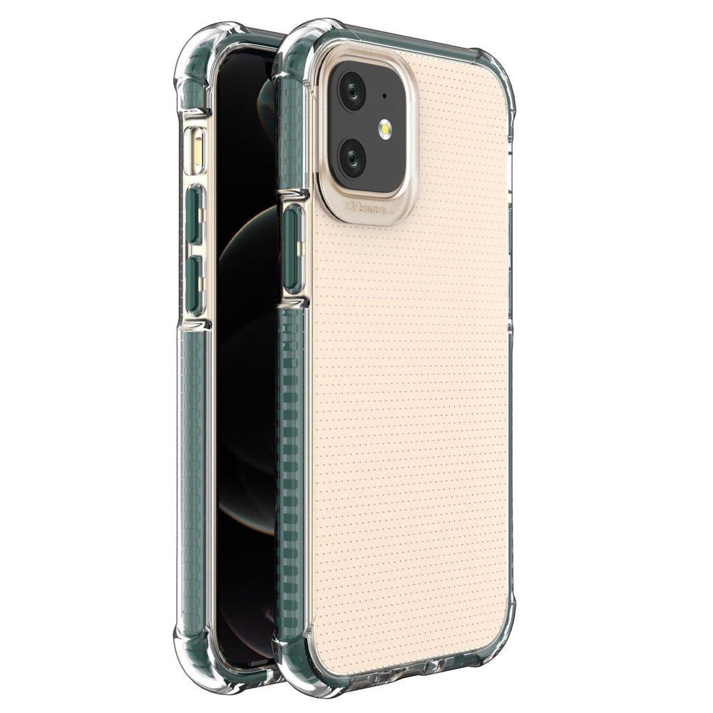 "Spring Armor silikonové pouzdro s barevným lemem na iPhone 12 Mini 5,4"" dark green"