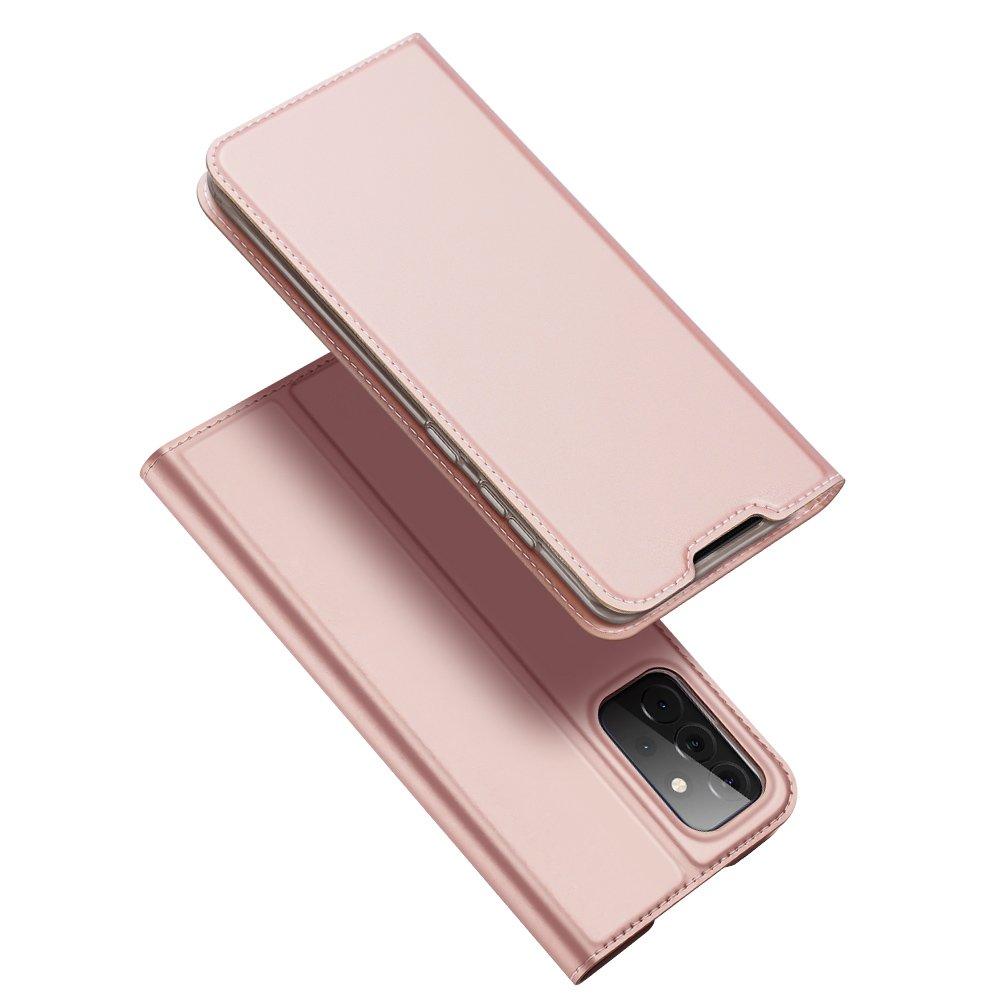 DUX DUCIS Skin knížkové púzdro pre Samsung Galaxy A72 pink