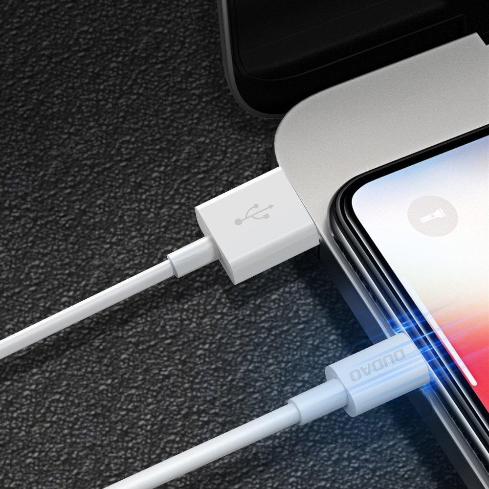 Dudao datový kabel USB/USB-C 3A 1m Bílý L1T
