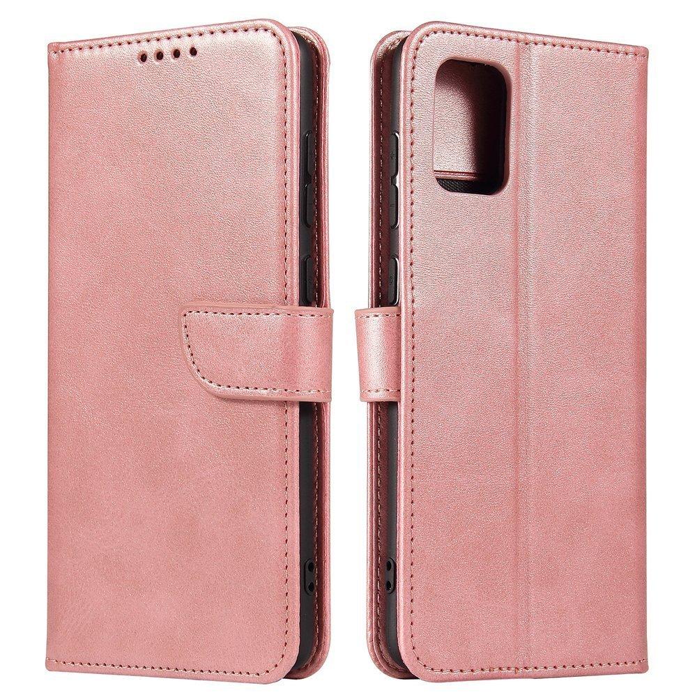 Kožené flipové pouzdro Magnet Case pro  Samsung Galaxy A71 5G , růžová 9111201921665