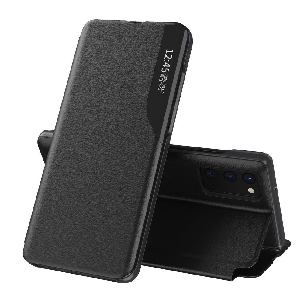 Knížkové pouzdro s imitací kůže na Samsung Galaxy A02s black