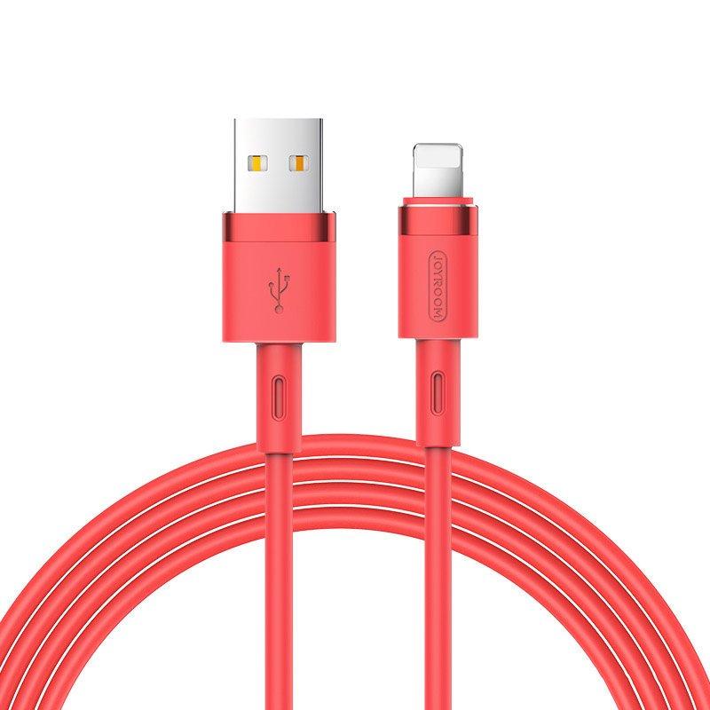 Joyroom S-1224N2 odolný silikonový kabel USB / Lightning 2,4A 1,2m red