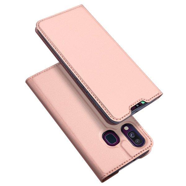 DUX DUCIS Skin knížkové pouzdro na Samsung Galaxy A40 pink