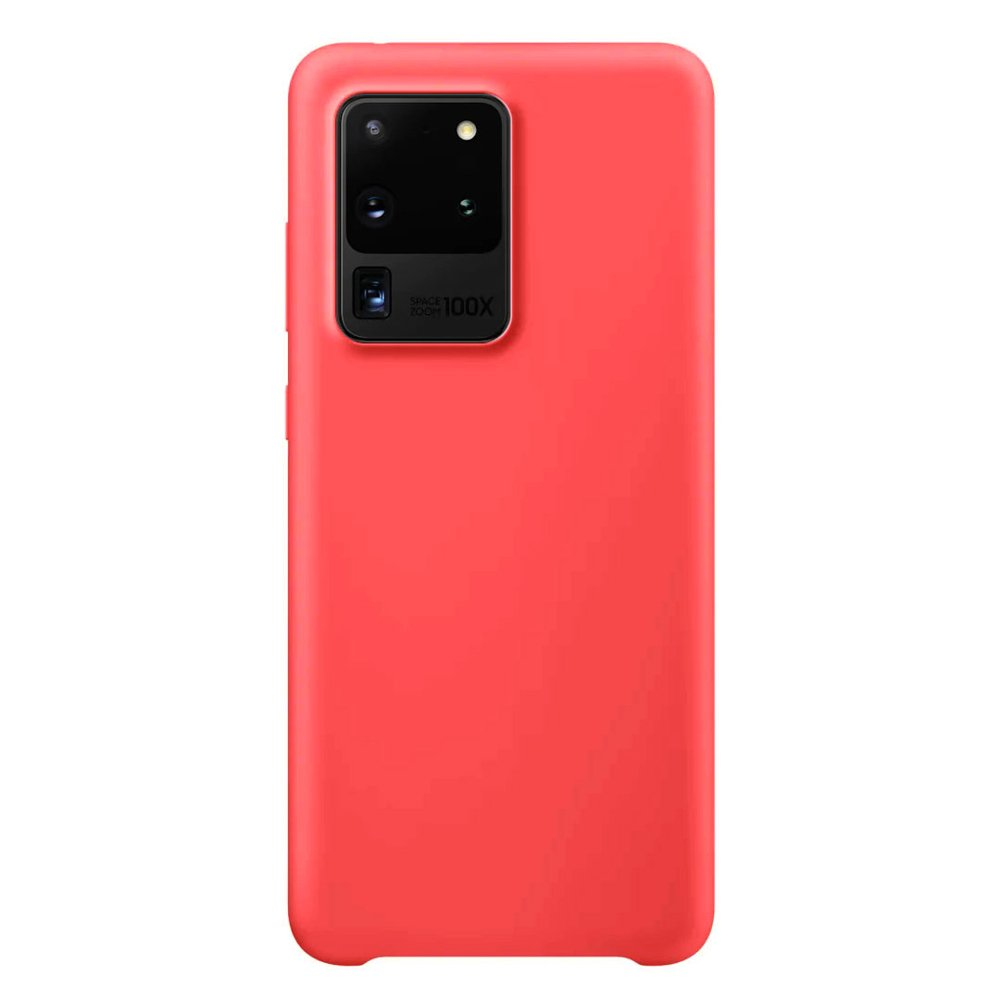 Silikonové pouzdro LUX na Samsung Galaxy S20 Ultra red