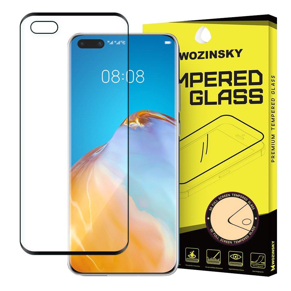 Wozinsky Celoplošně lepené temperované tvrzené sklo 9H na Huawei P40 black