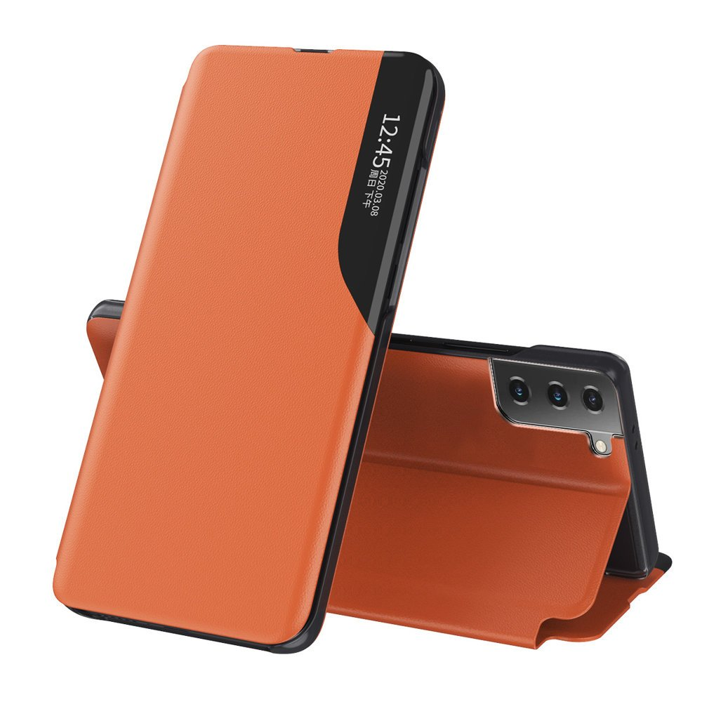 Flipové pouzdro Eco Leather View Case Samsung Galaxy S21+ 5G (S21 Plus 5G) , oranžová 9111201925083