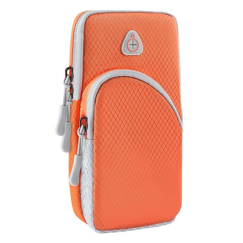 Běžecké pouzdro pro mobil na ruku, univerzální , oranžová 9111201926172