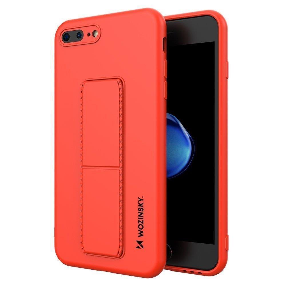 Wozinsky Flexibilné silikónové puzdro so stojanom na iPhone 8 Plus / iPhone 7 Plus red