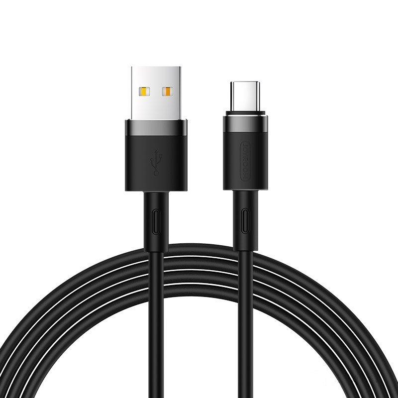 Joyroom S-1224N2 odolný silikónový kábel USB / USB-C 2,4A 1,2m black