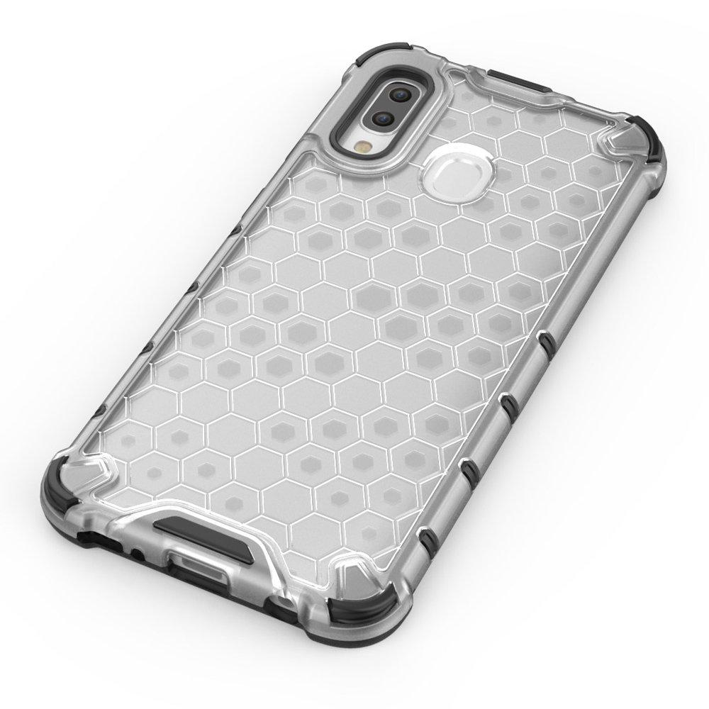 Honeycomb pancéřové pouzdro se silikonovým rámem pro Samsung Galaxy A40 black