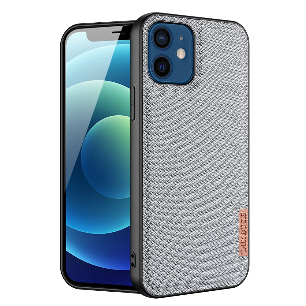 Luxusní pouzdro Dux Ducis Fino Nylon ,  iPhone 12 mini , modrá 6934913055670