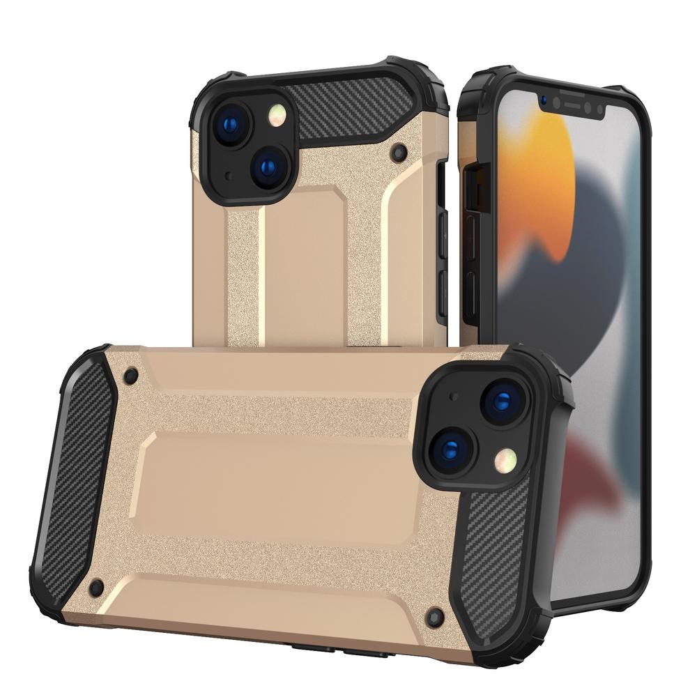 Hybrid pancierové polykarbonátové púzdro preiPhone 13 Mini golden