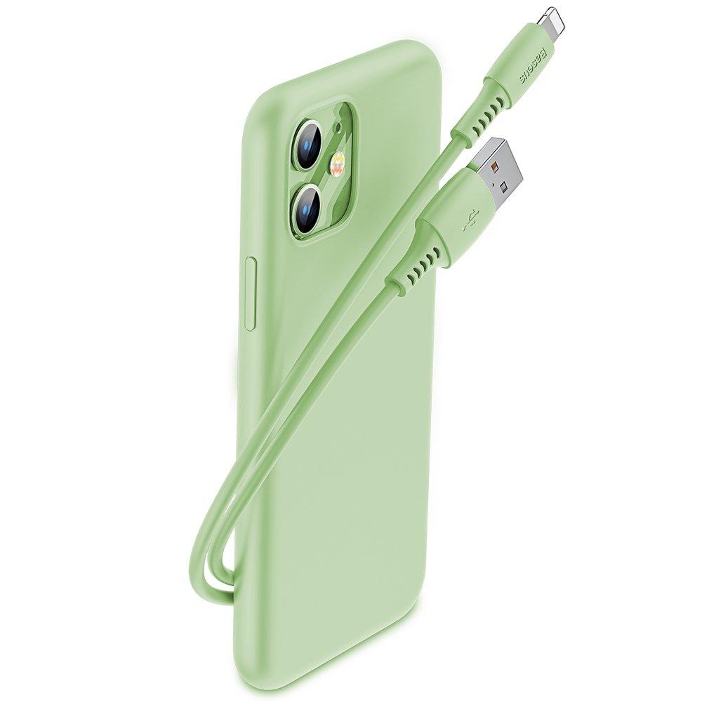 Baseus Colourful odolný kabel USB / Lightning 2.4A 1.2m Green