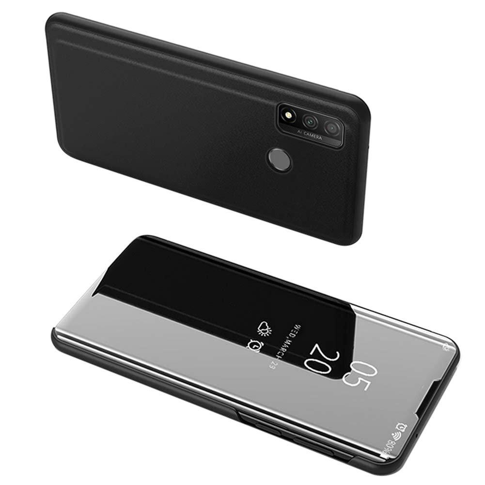 Knížkové pouzdro na Huawei P Smart 2020 black s průhlednou přední stranou