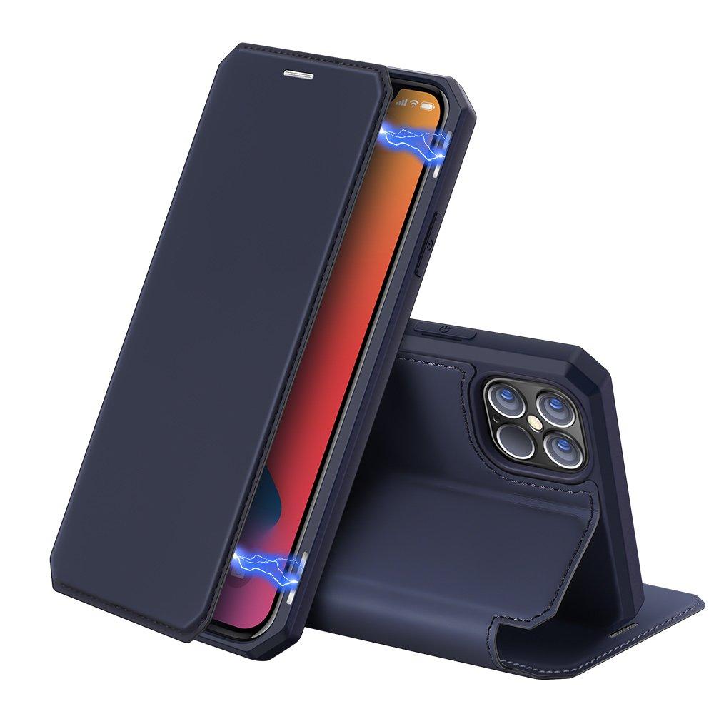 "DUX DUCIS Skin X knížkové pouzdro na iPhone 12 Pro Max 6.7"" blue"