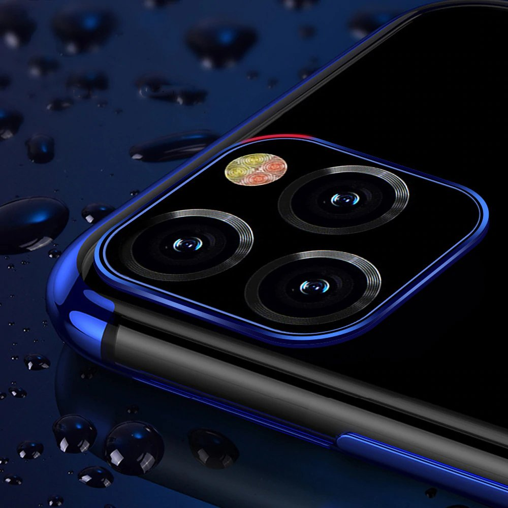 "Color Electroplating silikonové pouzdro na iPhone 12 Pro Max 6.7"" blue"
