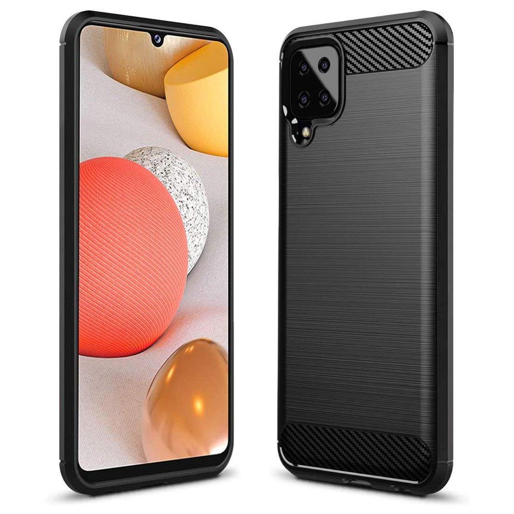 Carbon silikónové puzdro na Samsung Galaxy A12/M12 black