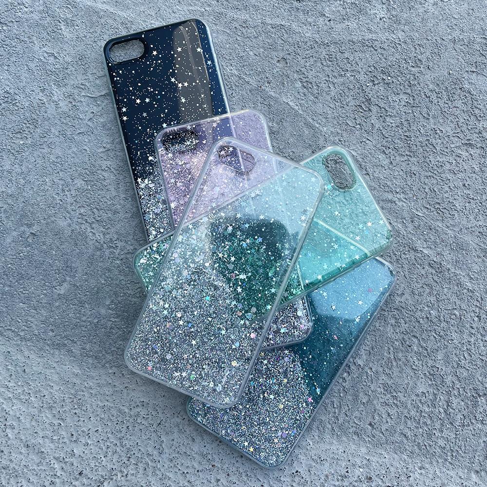 Wozinsky Star Glitter silikonové pouzdro na iPhone XR transparent