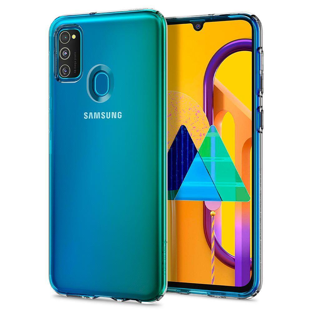 Spigen Liquid Crystal silikonové púzdro pre Samsung Galaxy M21 / M30s Crystal Clear