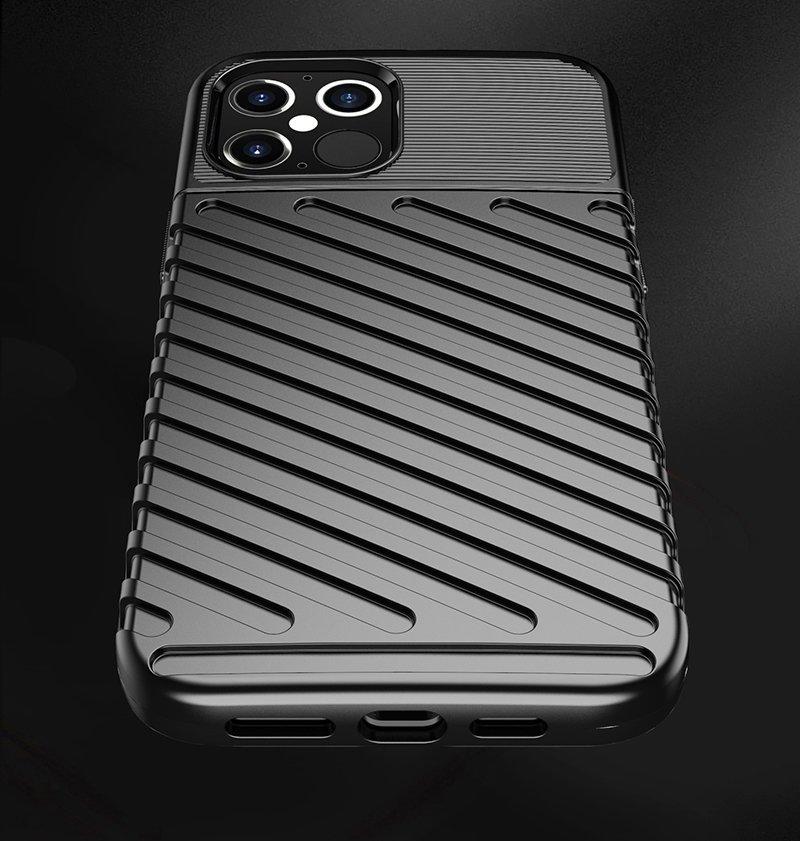 """Thunder silikonové pouzdro na iPhone 12 Pro Max 6.7"""" black"""