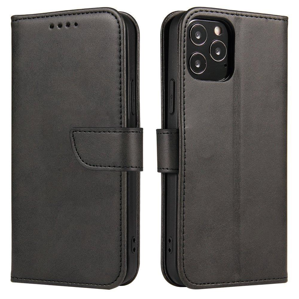 Magnet Case elegantní knížkové pouzdro na Huawei P40 Lite 5G / Nova 7 SE black