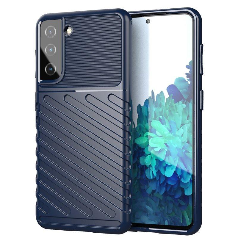 Thunder silikónové puzdro pre Samsung Galaxy S21 5G blue