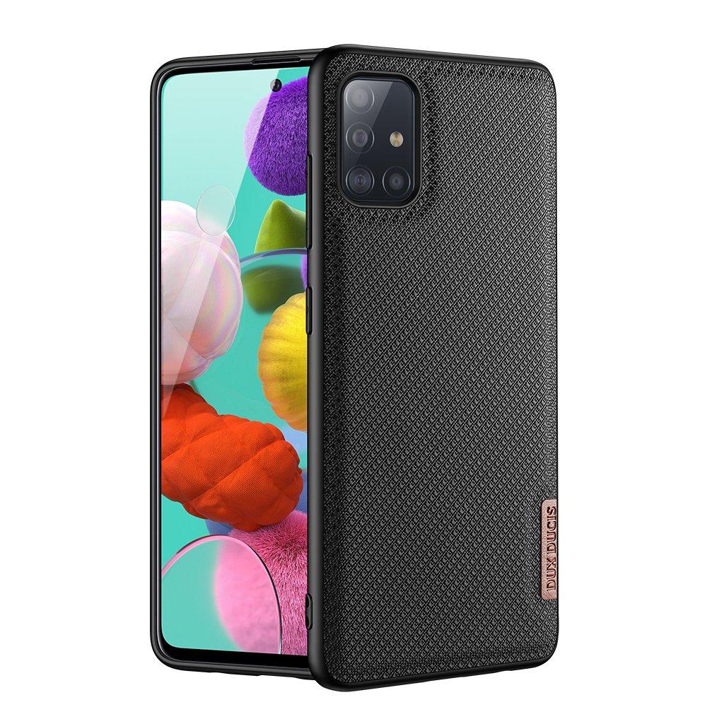 Luxusní pouzdro Dux Ducis Fino Nylon ,  Samsung Galaxy A51 , černá 6934913055847