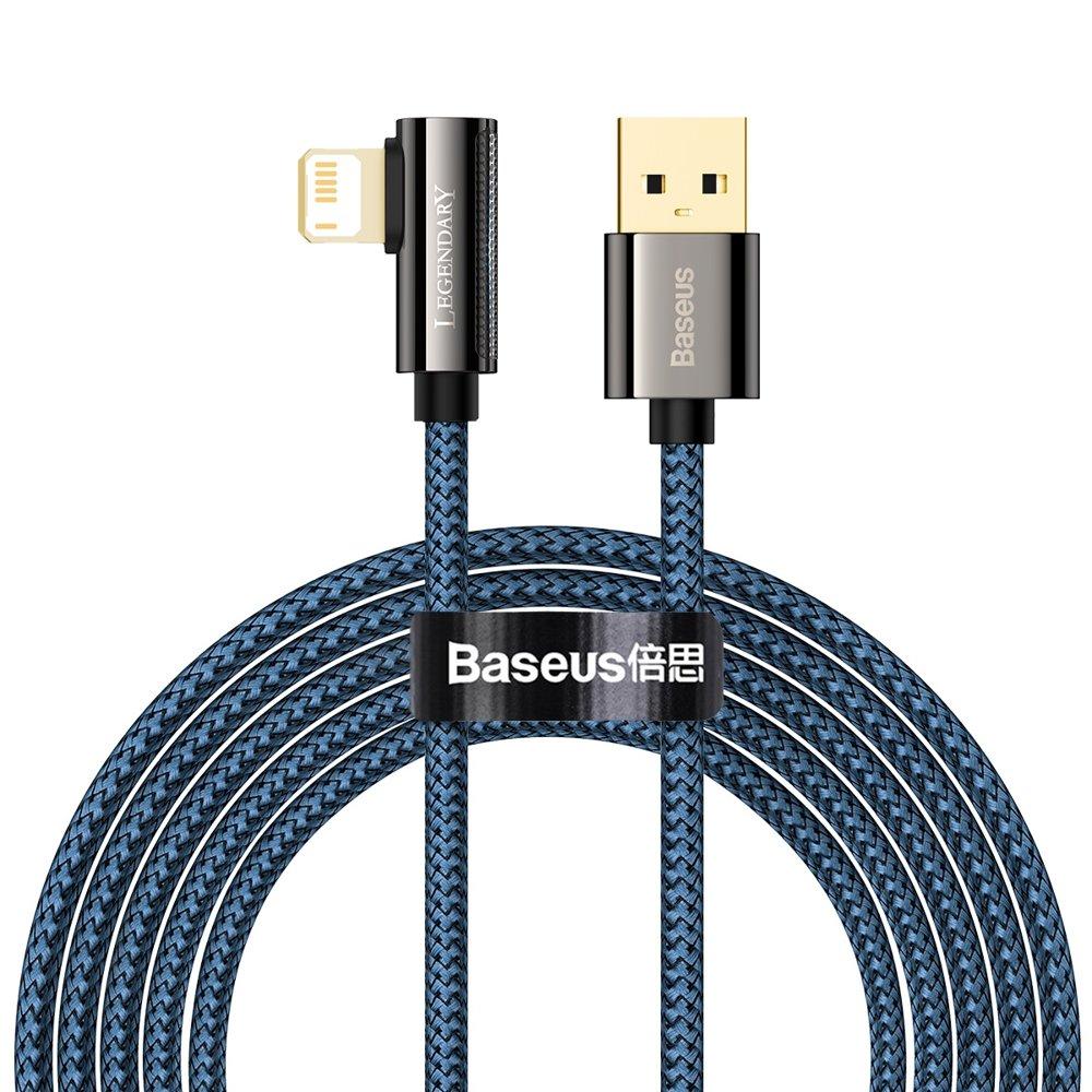 Baseus Legend extra odolný nylonem opletený kábel USB / Lightning 2.4A 2m blue