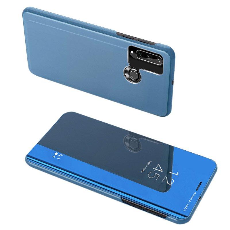 Knížkové pouzdro na Huawei Y6p Blue s průhlednou přední stranou