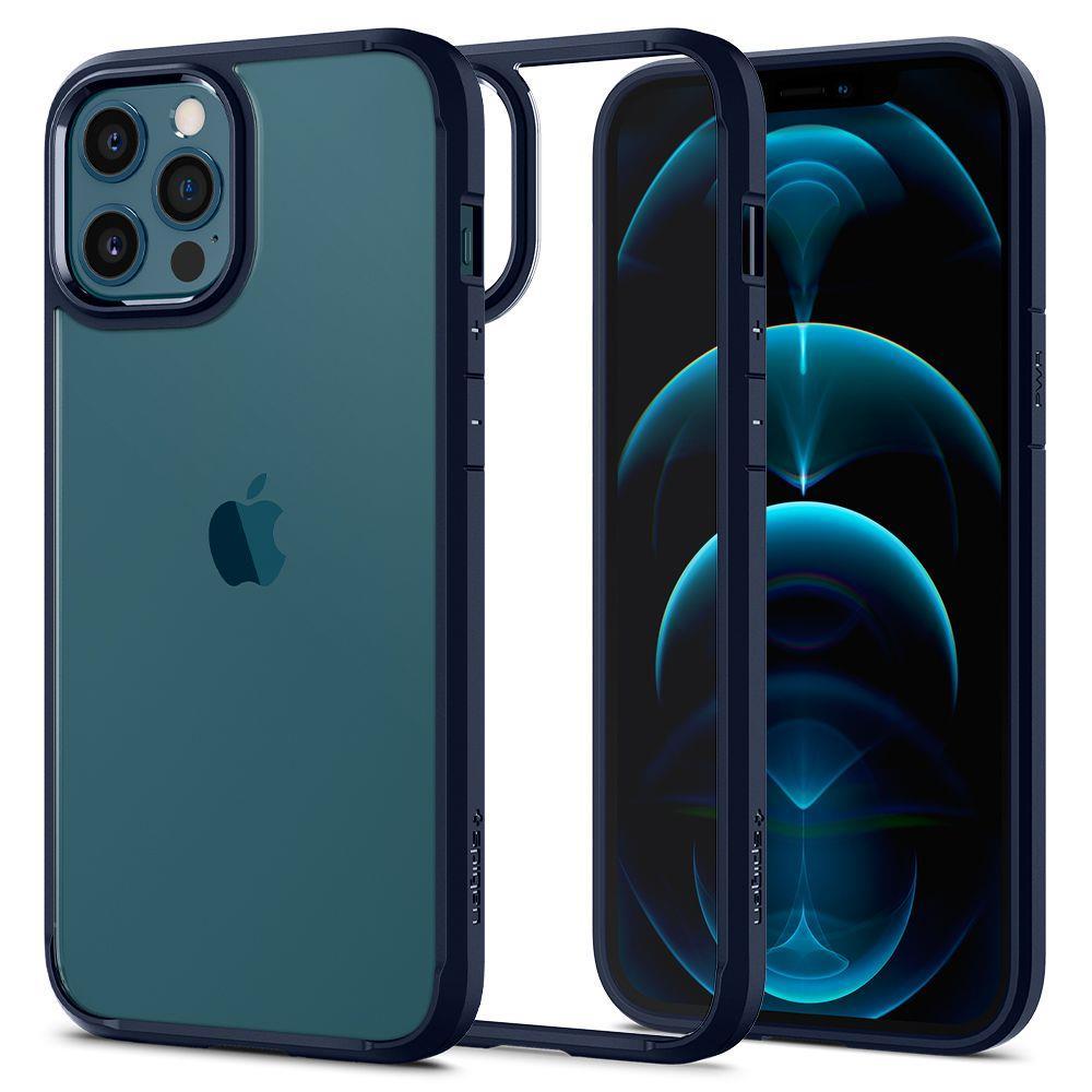 """Spigen Ultra Hybrid púzdro pre iPhone 12 / 12 Pro 6.1"""" Navy Blue"""