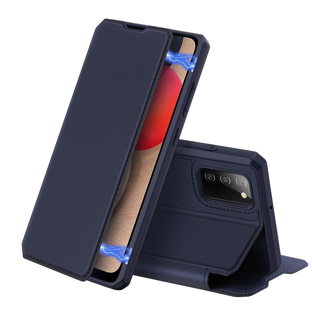 Flipové pouzdro Dux Ducis skin na Samsung Galaxy A02s EU , modrá 6934913052471
