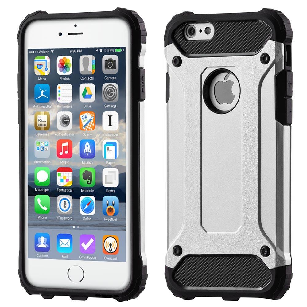 Hybrid Armor Case odolné pouzdro pro iPhone 6S 6 , stříbrná 7426803929325