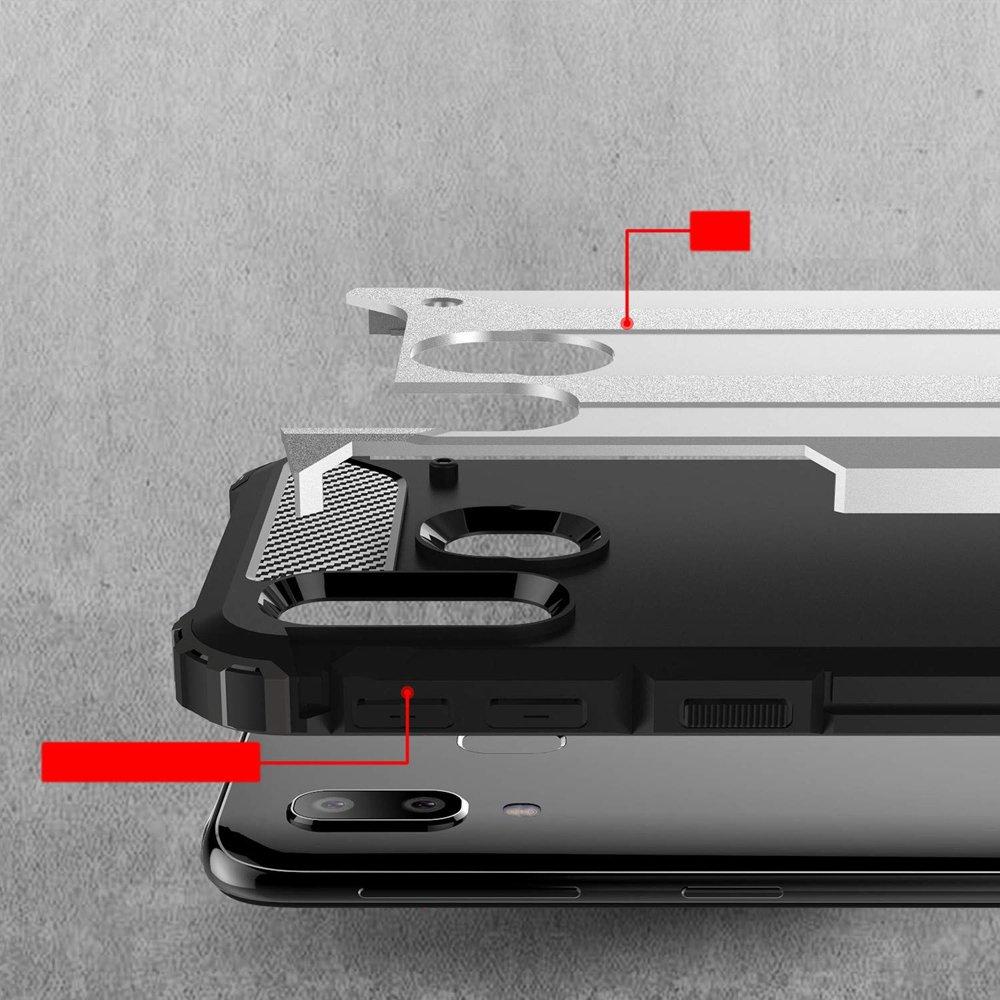 Hybrid polykarbonátové pouzdro Samsung Galaxy A40 black