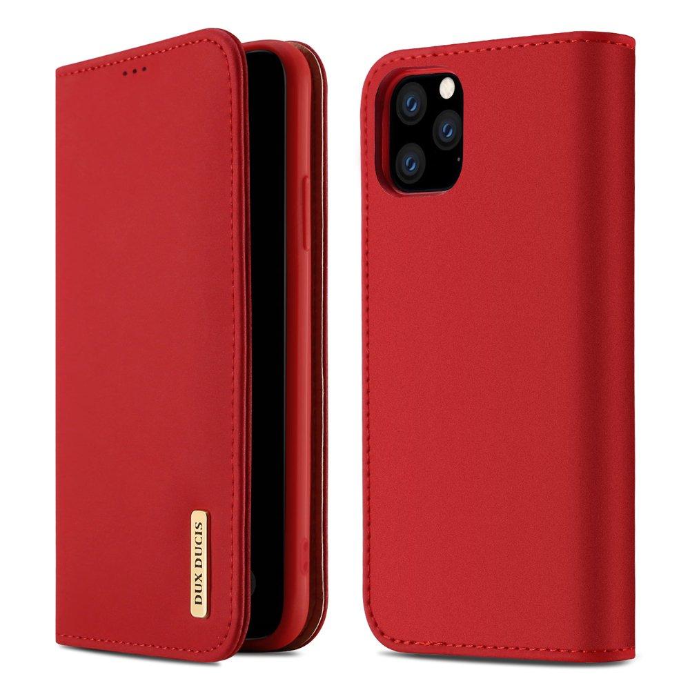 DUX DUCIS Wish kožené pouzdro pro iPhone 11 Pro Max red