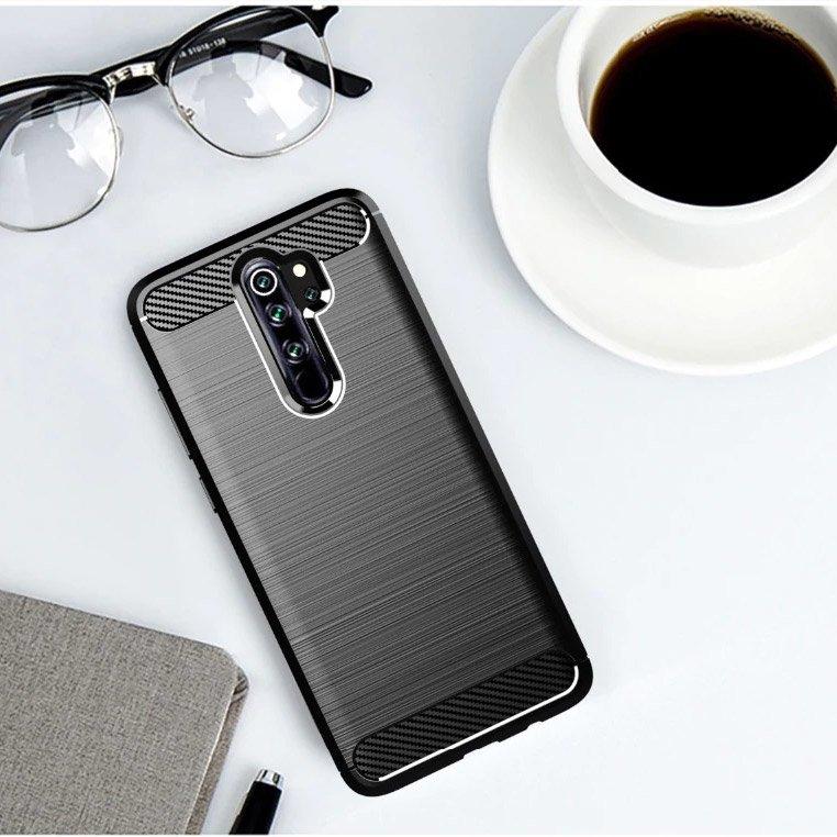 Carbon silikonové pouzdro pro Xiaomi Redmi Note 8 Pro black