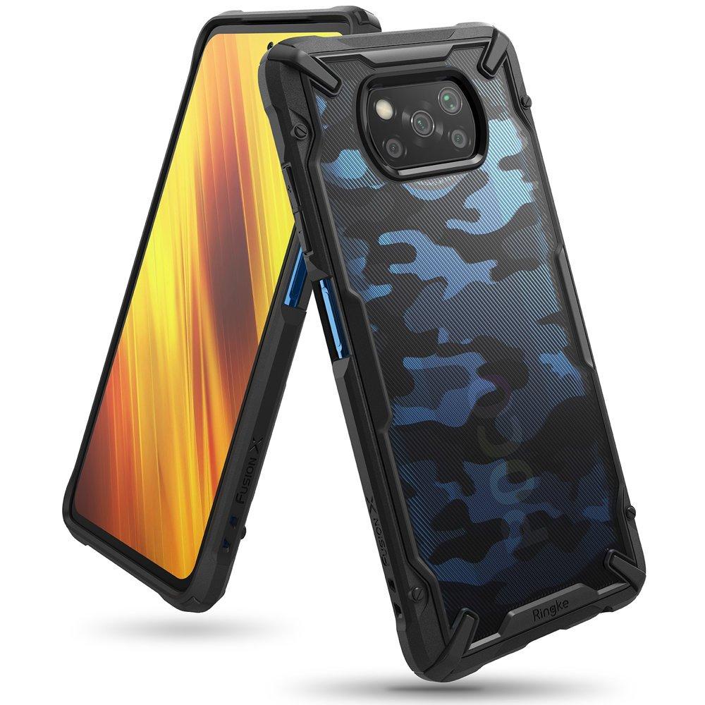 Ringke Fusion X design pancéřové pouzdro na Xiaomi Poco X3 Pro / X3 NFC camo black