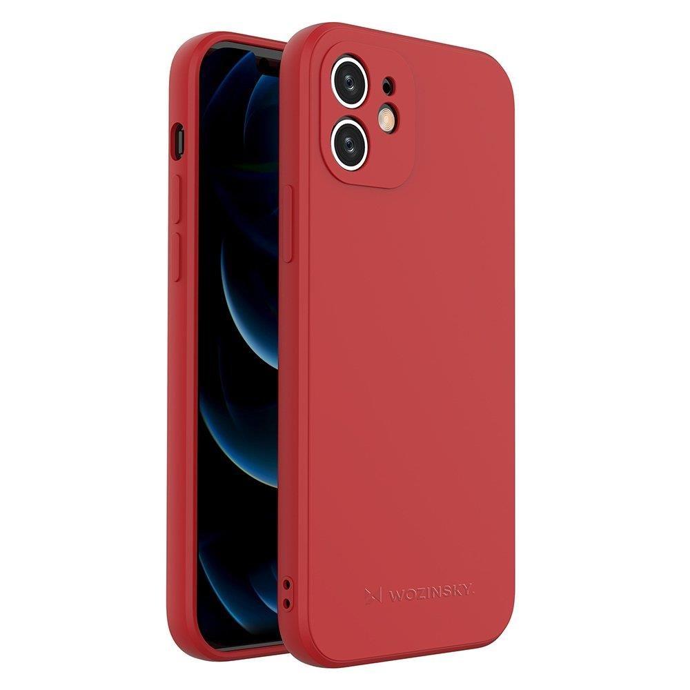 Wozinsky Color Case silikónové puzdro na iPhone SE 2020 / iPhone 8 / iPhone 7 red